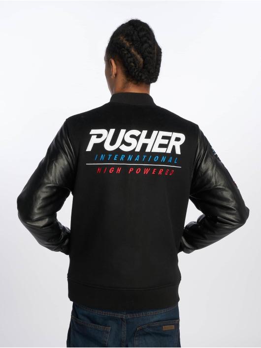 Pusher Apparel Kurtki przejściowe Varsity czarny