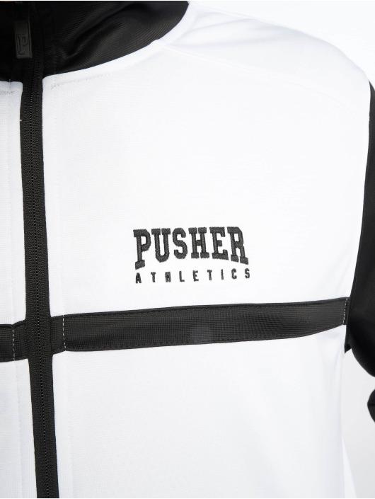 Pusher Apparel Prechodné vetrovky Athletics biela