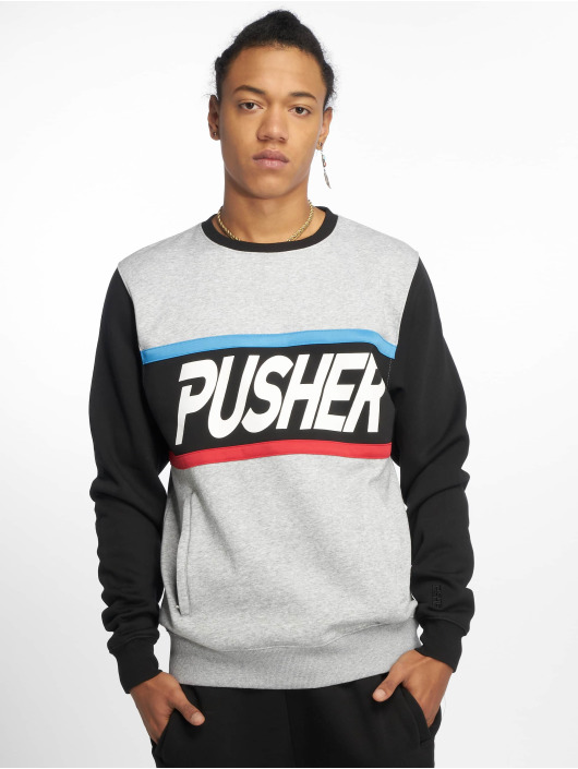 Pusher Apparel Pullover More Power grau