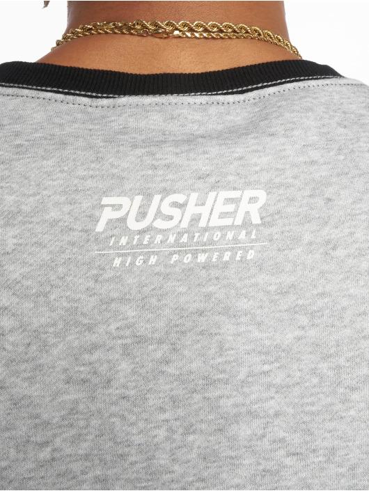 Pusher Apparel Pulóvre More Power šedá