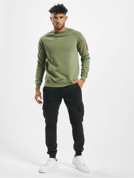 Pusher Apparel Sweat capuche zippé Athletics kaki