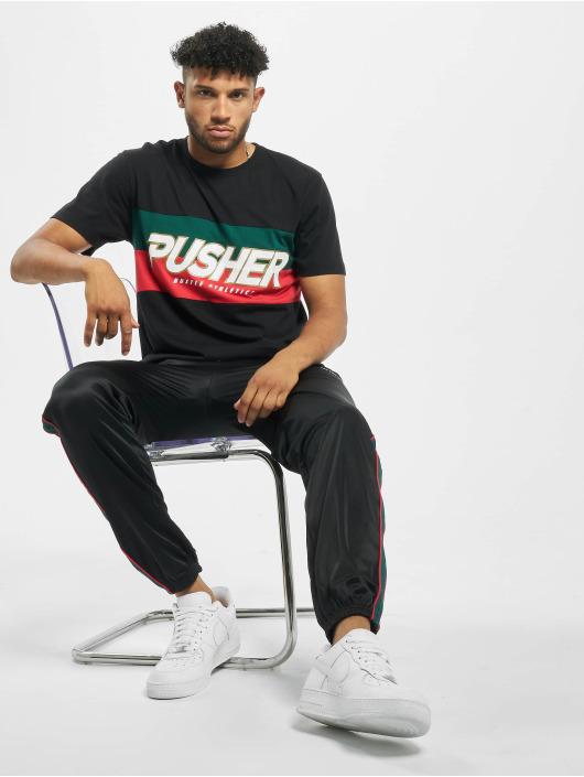 Pusher Apparel T-paidat Hustle musta