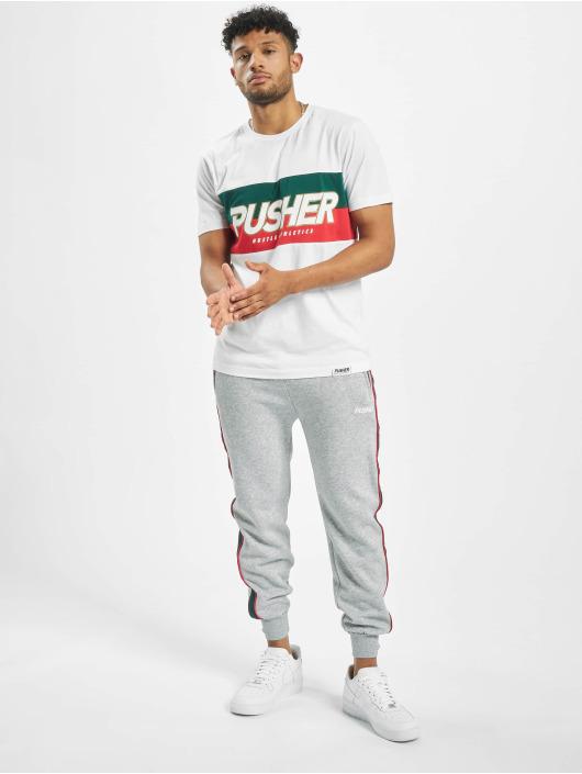 Pusher Apparel T-Shirt Hustle weiß