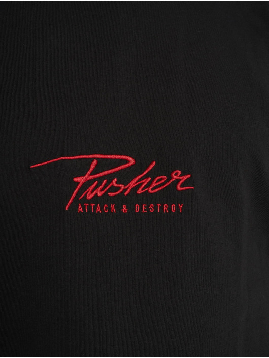 Pusher Apparel Tričká Attack Small Logo èierna