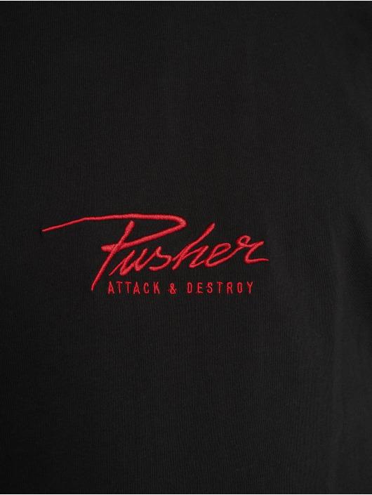 Pusher Apparel Tričká Attack Small Logo èierna