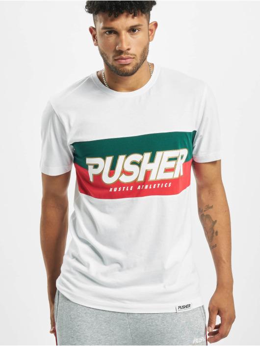 Pusher Apparel Tričká Hustle biela