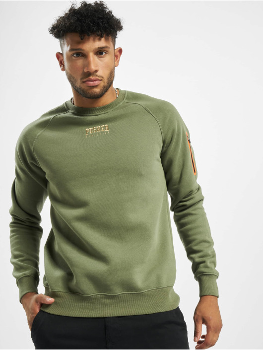 Pusher Apparel Zip Hoodie Athletics khaki