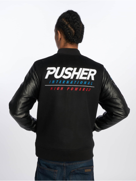 Pusher Apparel Zomerjas Varsity zwart