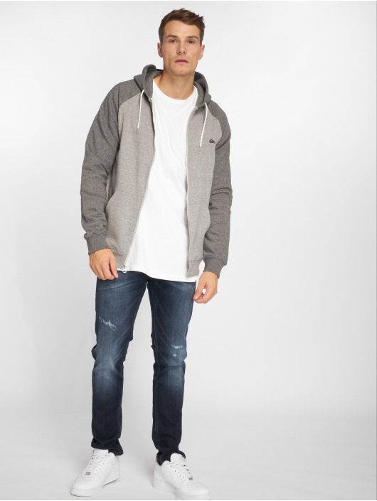 Quiksilver Sweat capuche zippé Everyday gris