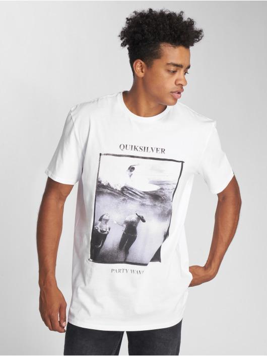 Quiksilver Blanc Homme T shirt 493265 Party Wave 35q4LRAj