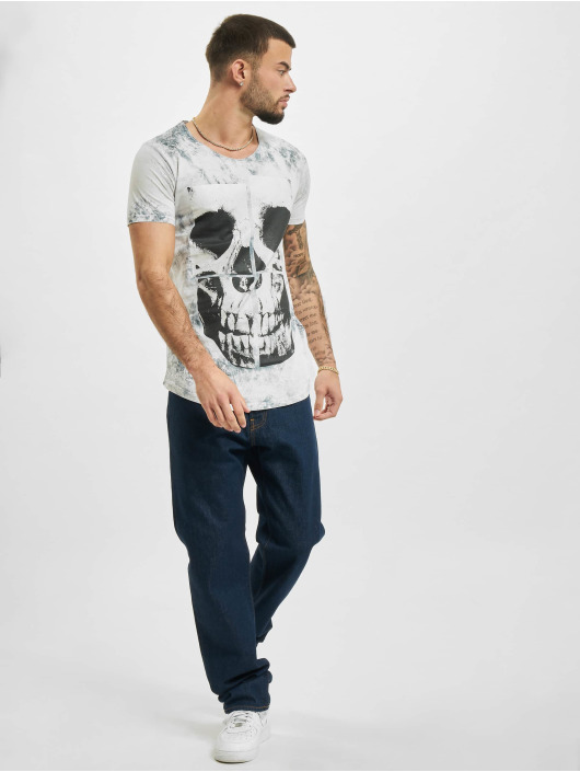 Red Bridge T-Shirt Skull grau