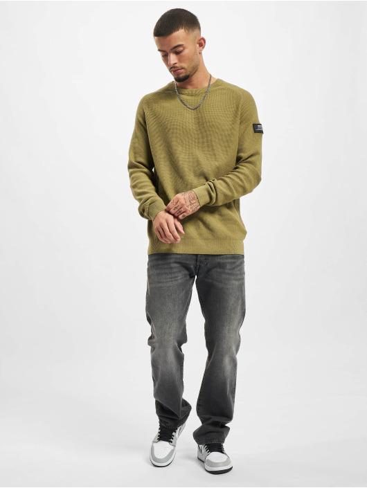 Redefined Rebel Пуловер Bear Knit оливковый