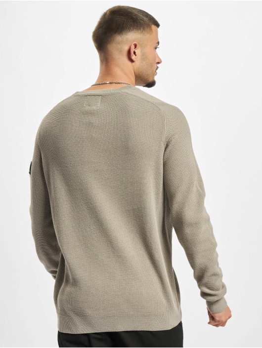 Redefined Rebel Пуловер Bear Knit серый