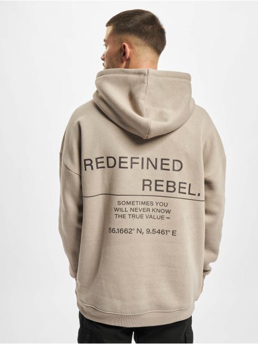 Redefined Rebel Bluzy z kapturem Josiah bezowy