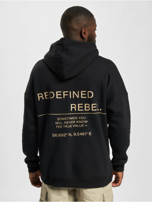 Redefined Rebel Bluzy z kapturem Josiah czarny