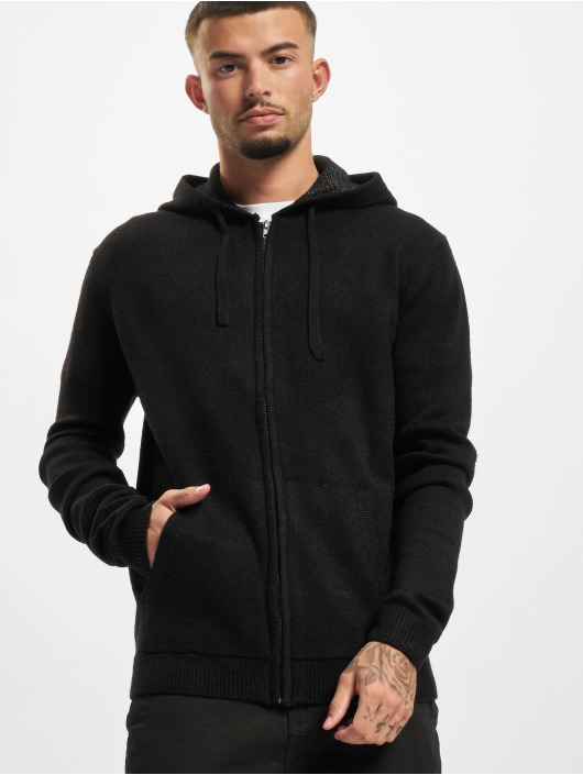 Redefined Rebel Hoodies con zip Soren Knit nero