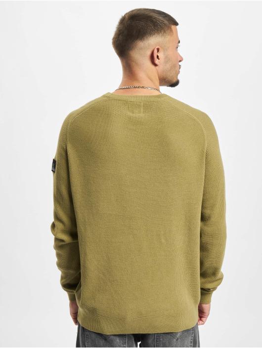 Redefined Rebel Swetry Bear Knit oliwkowy
