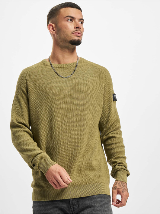 Redefined Rebel trui Bear Knit olijfgroen