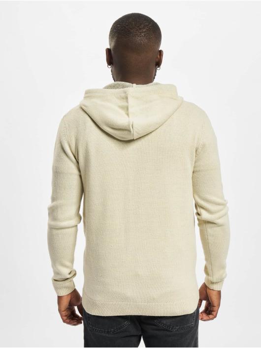 Redefined Rebel Vetoketjuhupparit Soren Knit valkoinen