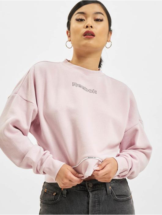 Reebok Пуловер Piping Pack розовый