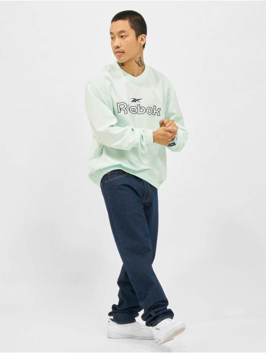 Reebok Пуловер CL TS Woven Crew синий
