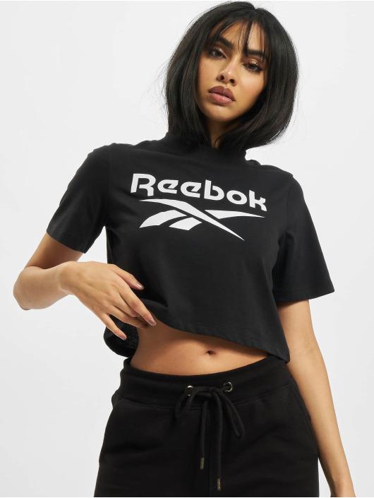 Reebok Футболка Identity Crop черный