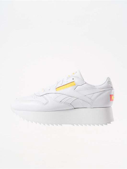Reebok   Classic Leather Double blanc Femme Baskets 576228 a0034397a4ae