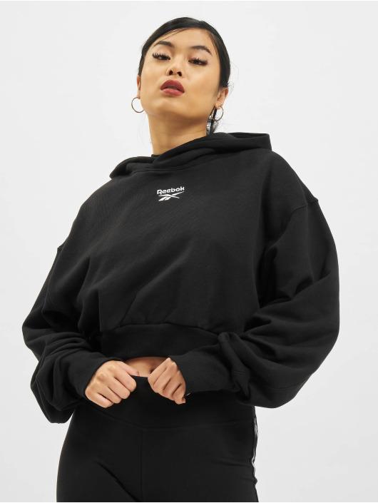 Reebok Bluzy z kapturem Cl Pf Cropped Ft czarny
