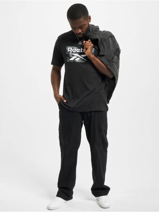 Reebok Camiseta Camo negro