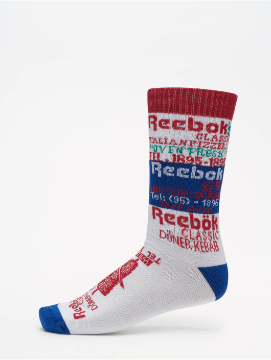 Reebok Chaussettes Classics Graphic blanc