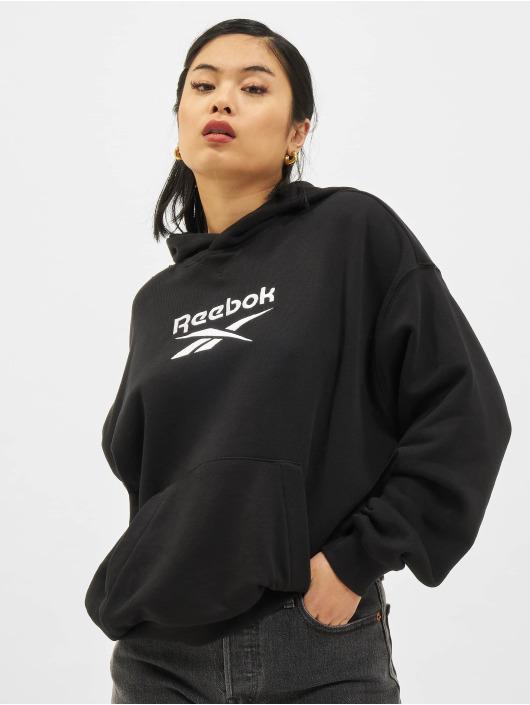 Reebok Felpa con cappuccio CL F Big Logo FT nero