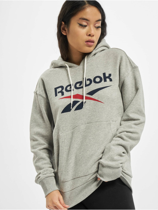 Reebok Hoody Identity Big Logo French Terry grau