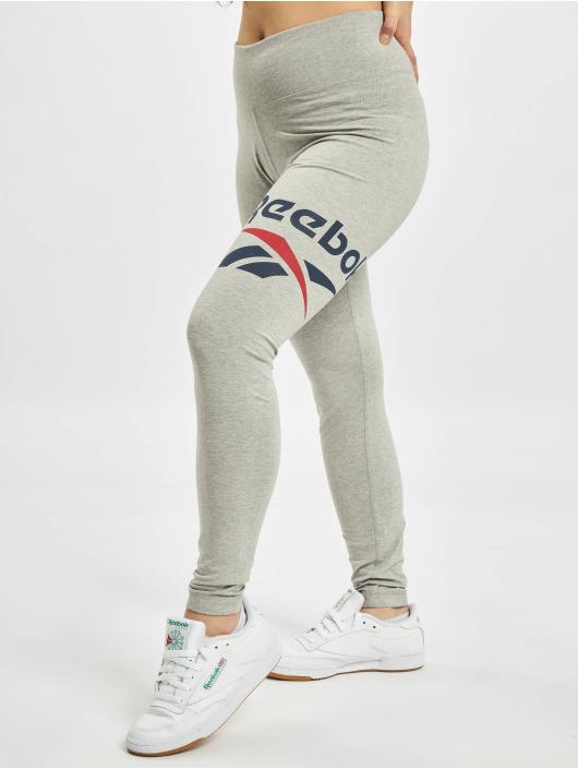 Reebok Legíny/Tregíny Identity Big Logo Cotton šedá