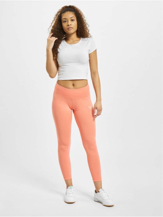 Reebok Leggings Identity Cotton rosa chiaro