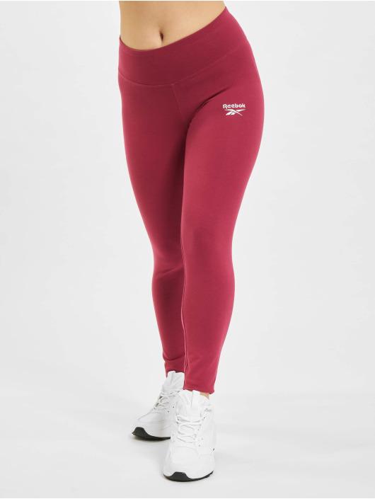 Reebok Leggings/Treggings Ri Cotton czerwony