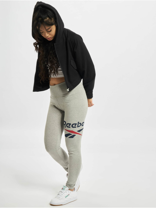 Reebok Leggings/Treggings Identity Big Logo Cotton szary
