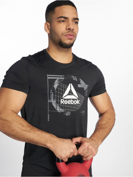 Reebok Performance Sportshirts Wor Activchill Grap czarny