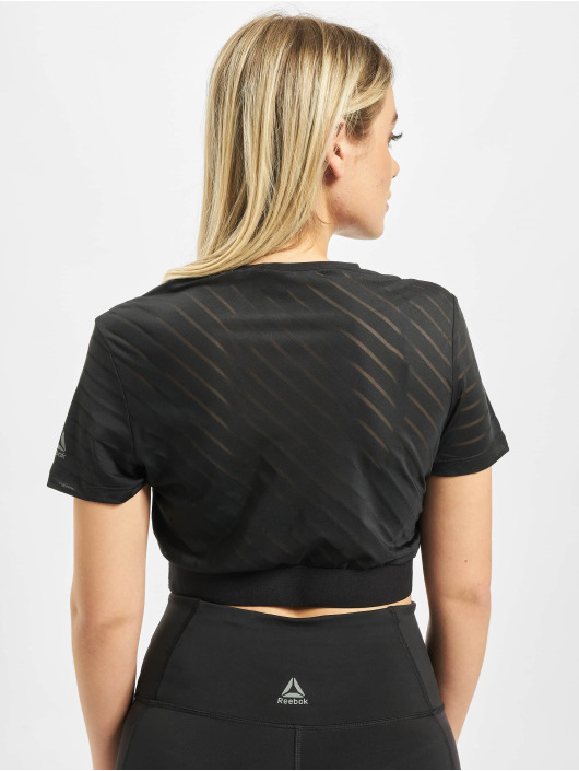 Reebok Performance T-Shirt S Mesh Crop black