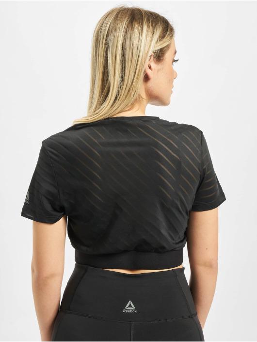 Reebok Performance T-Shirt S Mesh Crop noir