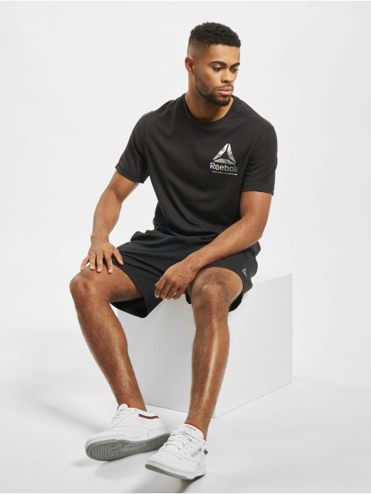 Reebok Performance t-shirt Speedwick Graphic zwart