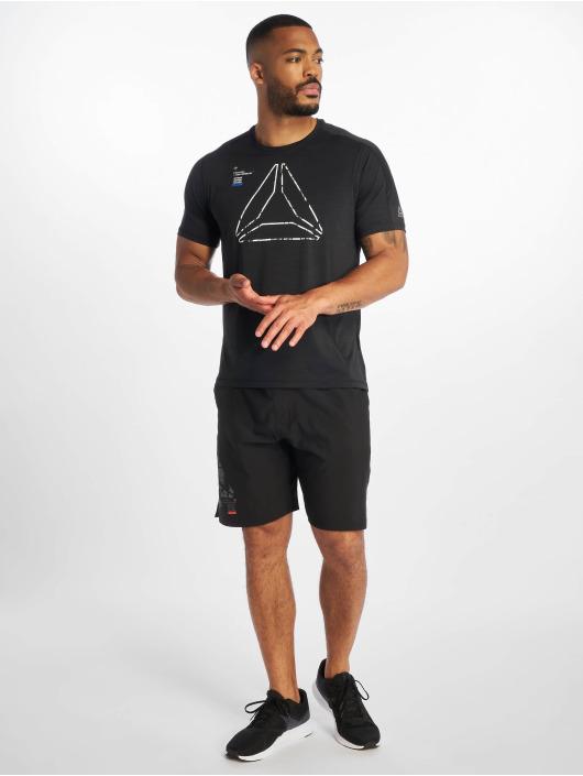 Reebok Performance T-Shirty Ost Activchill Grap czarny