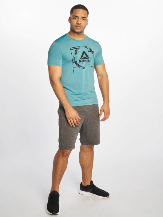 Reebok Performance T-Shirty Wor Activchill Grap turkusowy