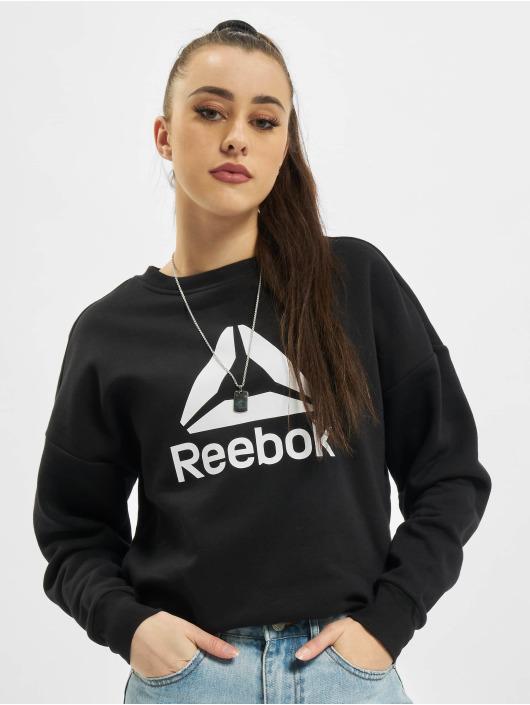 Reebok Performance trui Workout Big Logo Coverup zwart