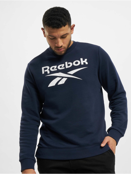 Reebok Pullover Identity French Terry Big Logo blau