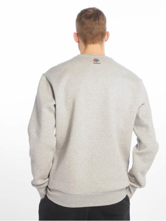 Reebok Classic Fleece Crew Sweatshirt Medium Grey Heather