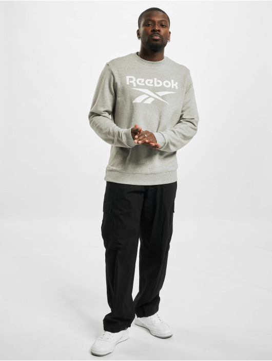 Reebok Pullover Identity French Terry Big Logo grau