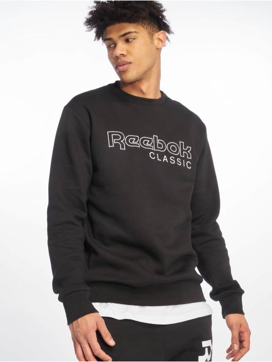 Reebok Pullover Fleece Crew schwarz