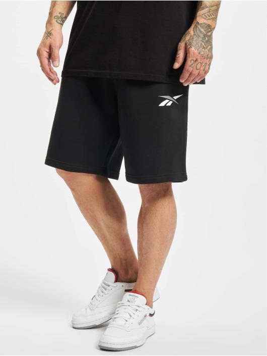 Reebok Shorts TE Vector Fleece schwarz