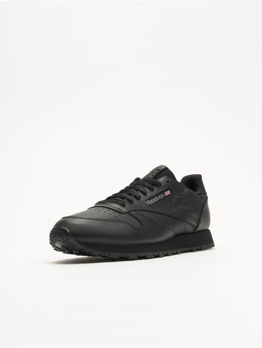 Heren Fitted Reebok CL Leather Casual Schoenen (Black