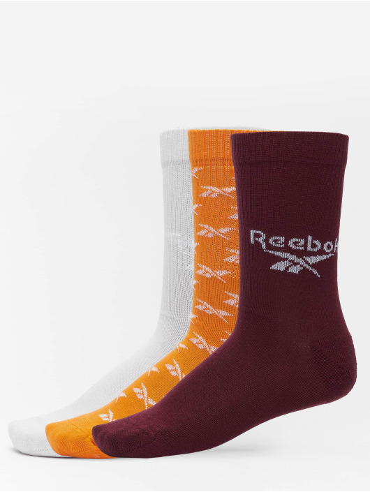 Reebok Socks Classics 3 Pack FO Crew orange